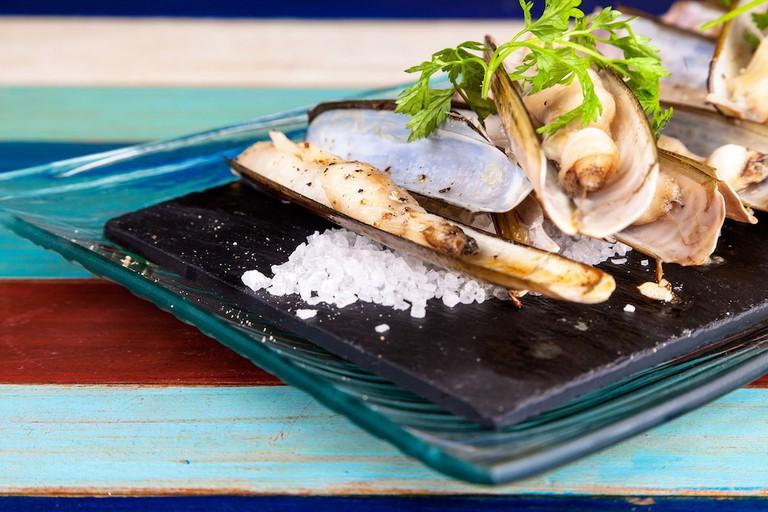 Razor clams from Escribà Courtesy of Escribà