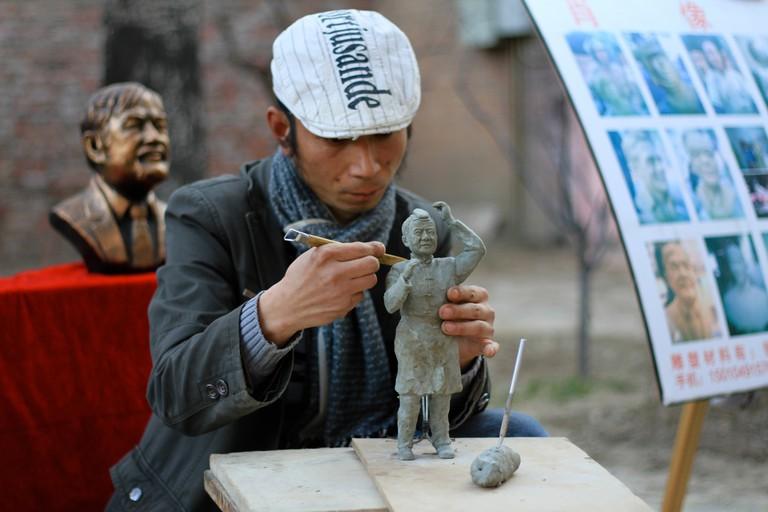 Artist in 798 Art District