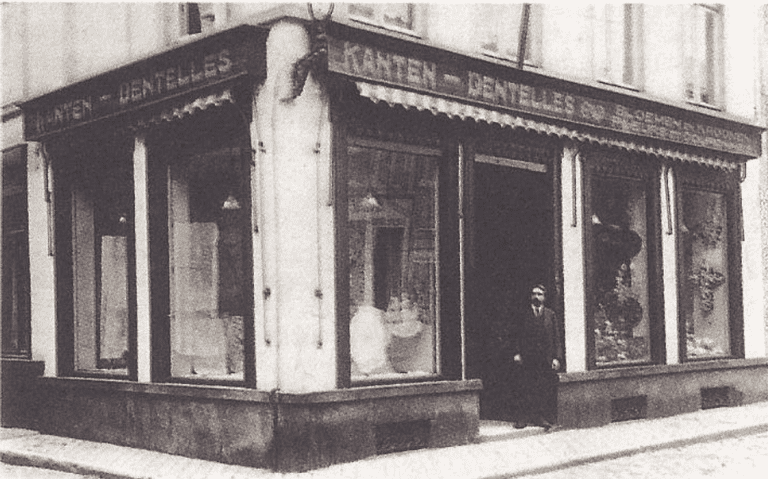 A traditional Belgian laceshop established in 1923 by the Cromheecke family that runs the Antwerps Kantwinkeltje | courtesy of Antwerps Kantwinkeltje