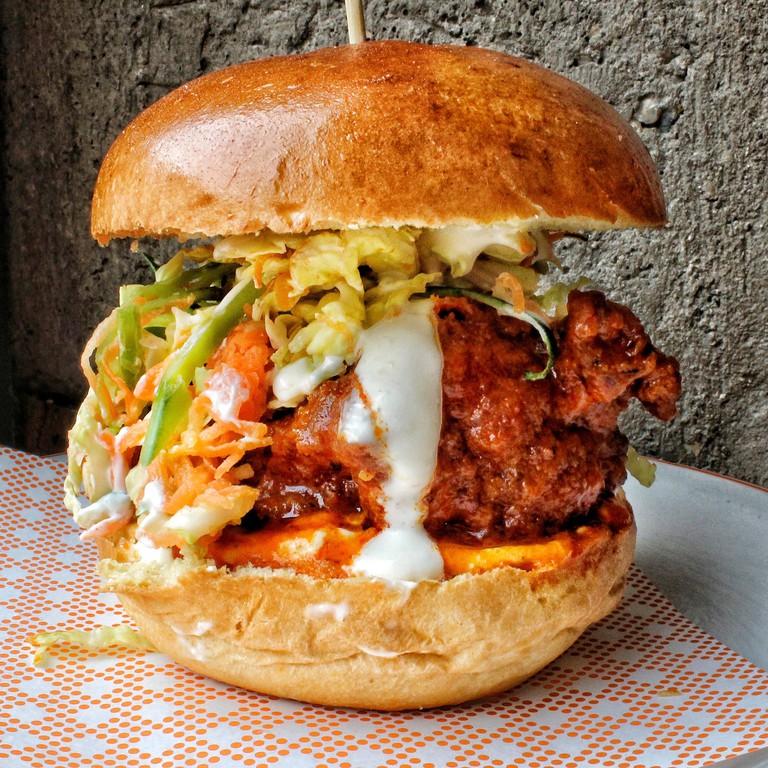 Buffalo Blue Burger at Bird