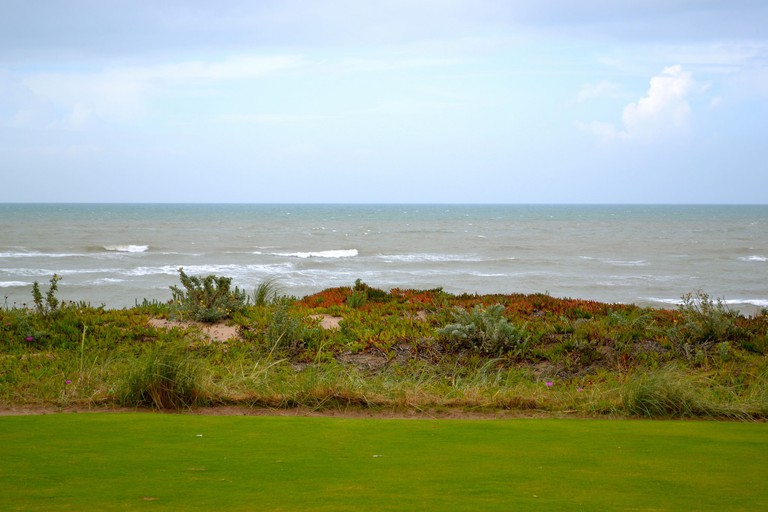 Views from the golf course at Mazagan Beach and Golf Resort