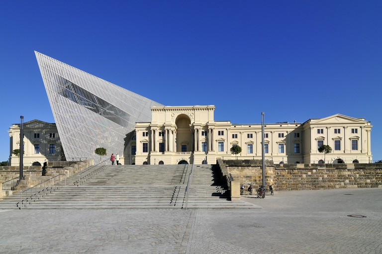 Dresden's Bundeswehr Museum of Military History, strikingly altered by Daniel Libeskind