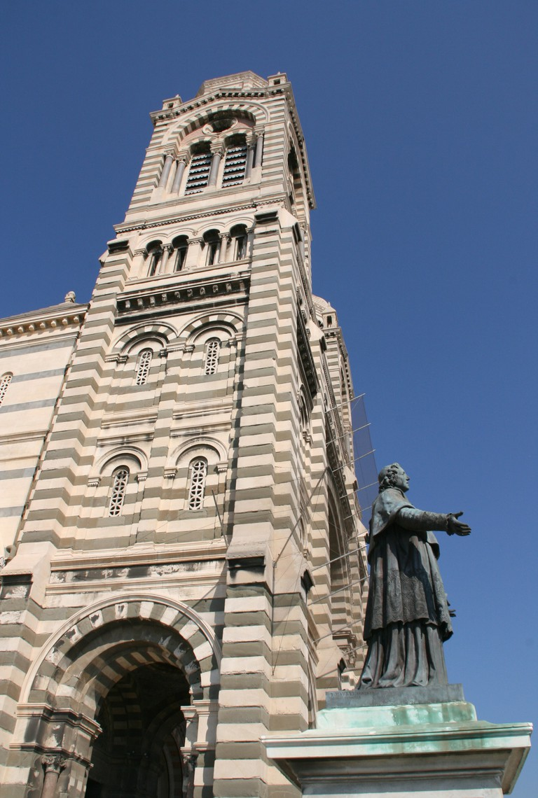 The Cathédrale La Major is a truly stunning building overlooking the waterfront