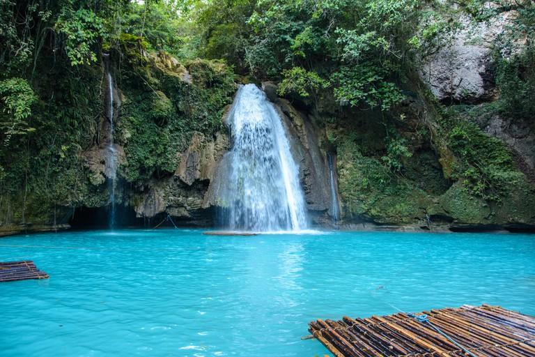 Kawasan Falls on Cebu island in Philippines