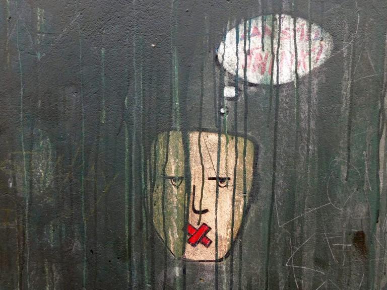 Street art community chalkboard