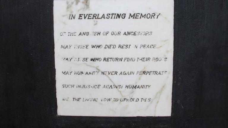 Elmina Castle Memorial Plaque