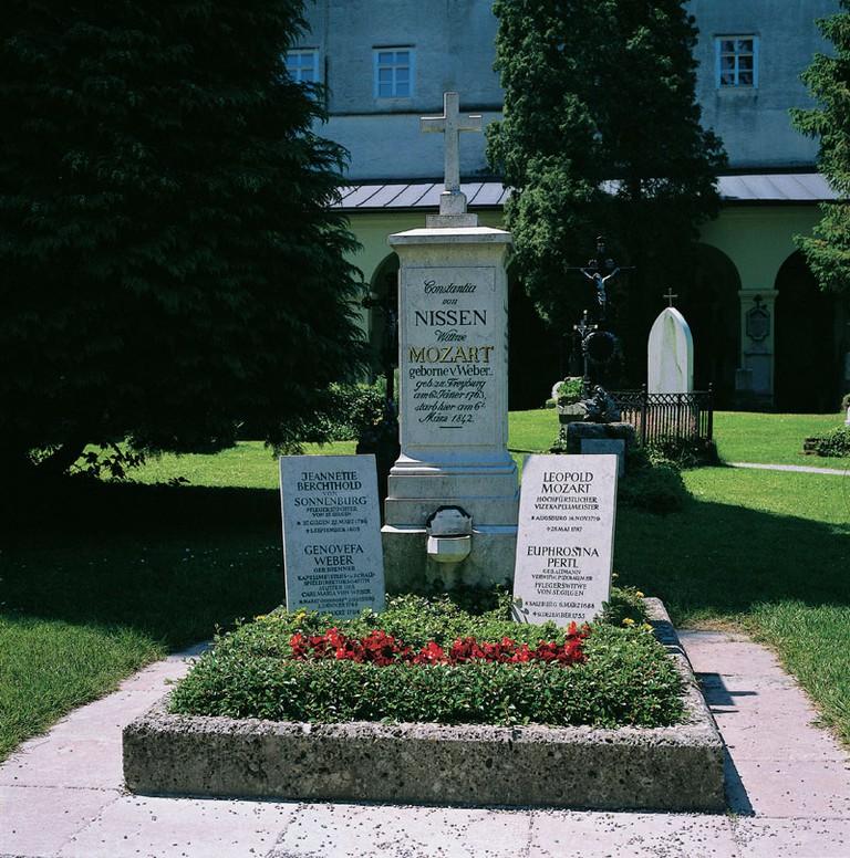 Mozart Graves - St. Sebastian's Cemetery, Salzburg