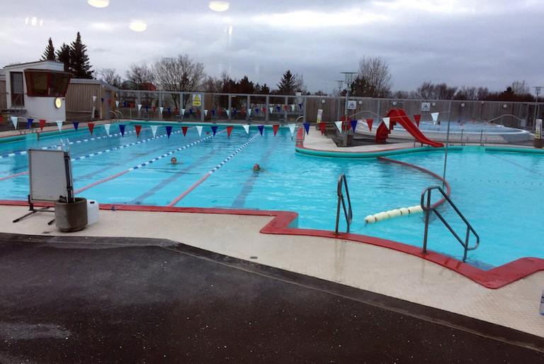 Vesturbæjarlaug pool with its warm geothermal waters