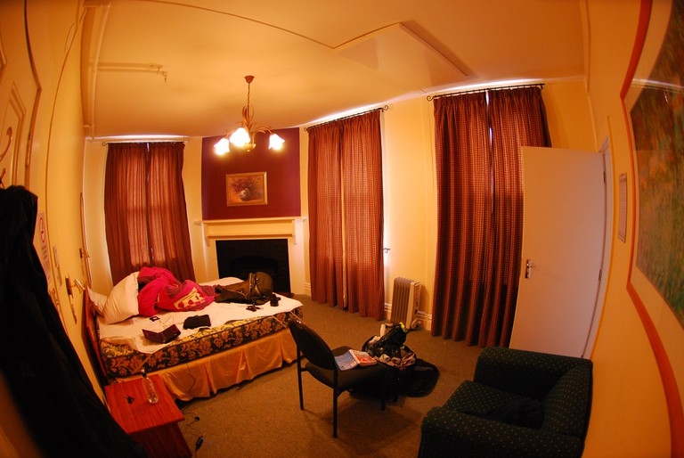 Inside the YHA in Rolleston House, Christchurch