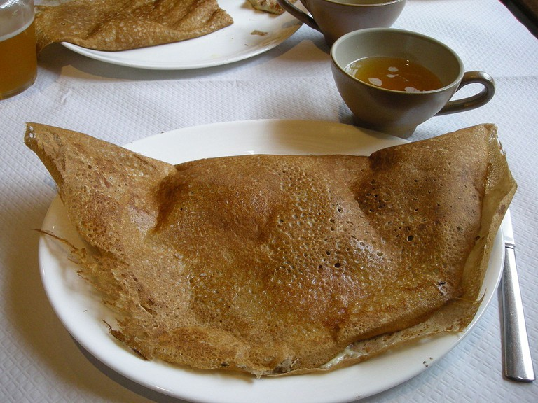 Crepe with French cider