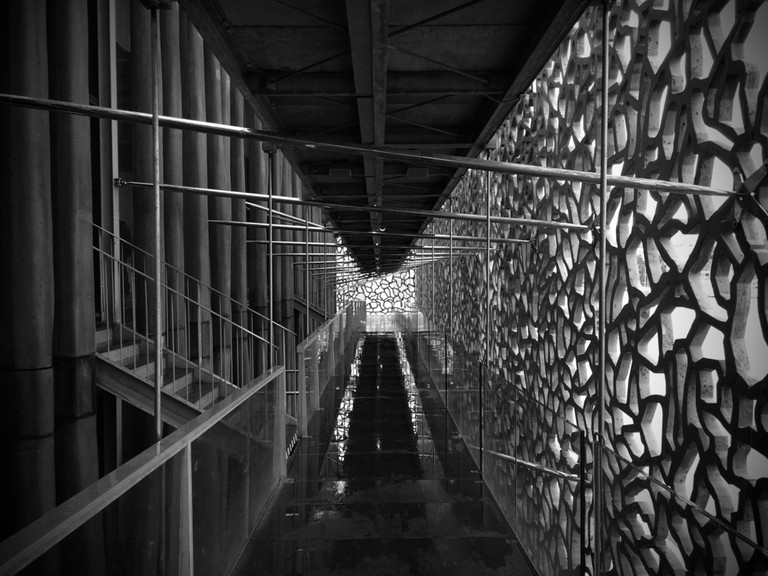 The walkways through the MUCEM in Marseille