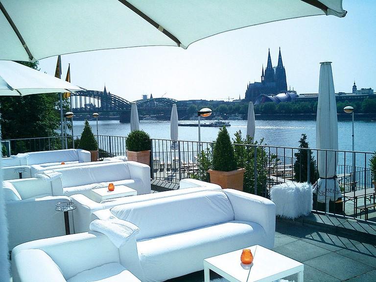 View from the Rheinterrassen in Cologne