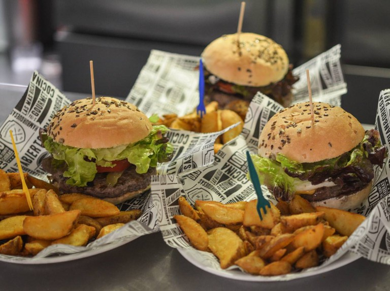 A choice of burgers