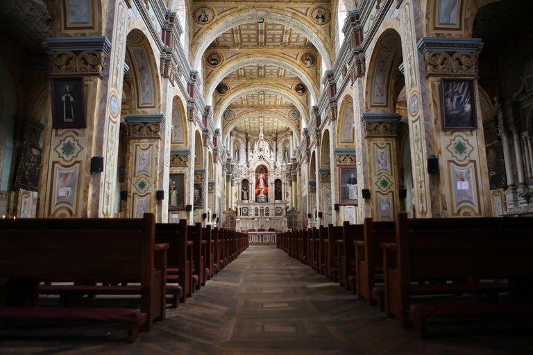 Interior of Santo Domingo Church, Cuenca