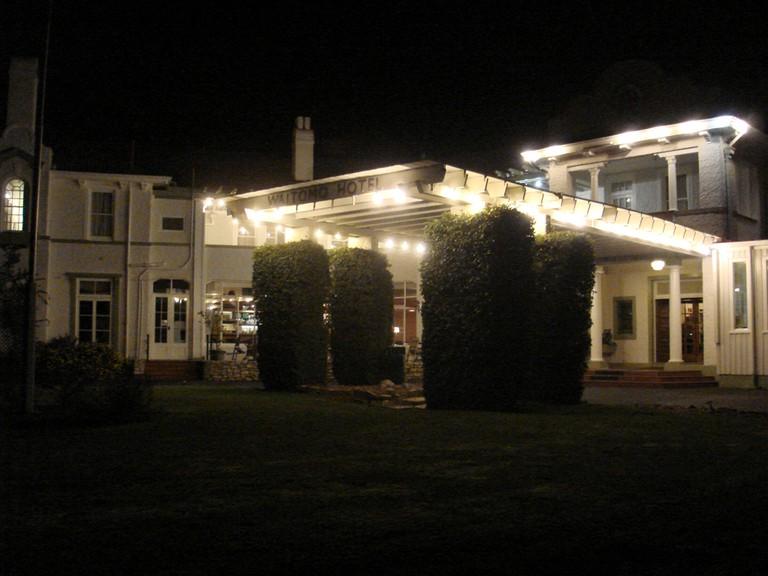 Waitomo Caves Hotel at Night