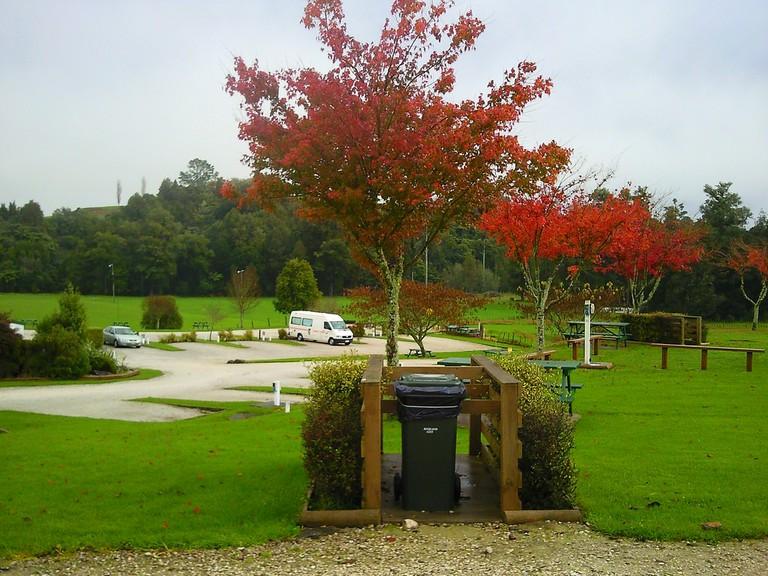 Area outisde the Waitomo Top 10 Holiday Park