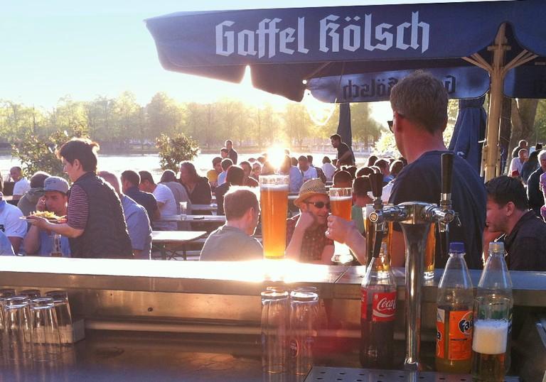 Aachen Pond Beer Garden, Köln