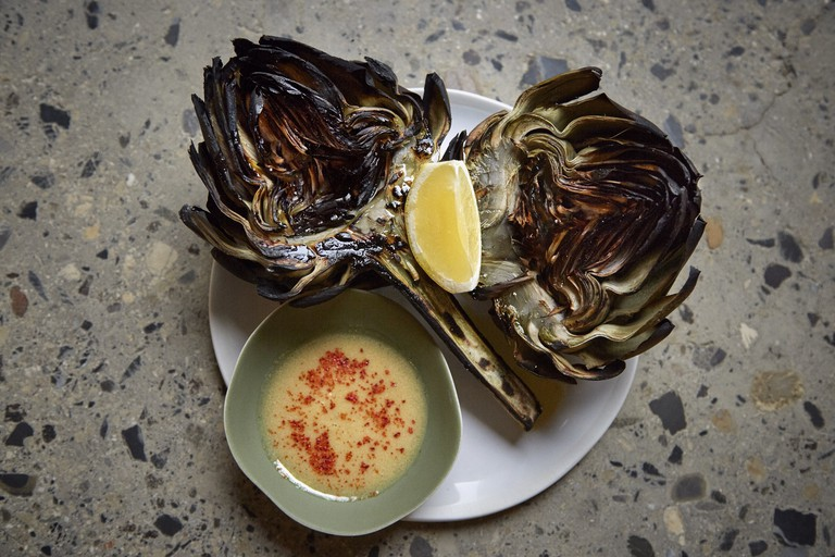 Artichokes at Les Grands Verres │© Jacqueline Booth di Milia, Courtesy of Les Grands Verres
