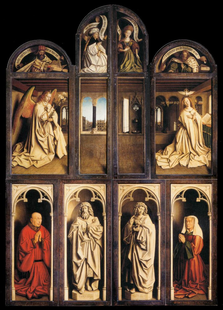 Hubert and Jan van Eyck, The Ghent Altarpiece (wings closed), 1432