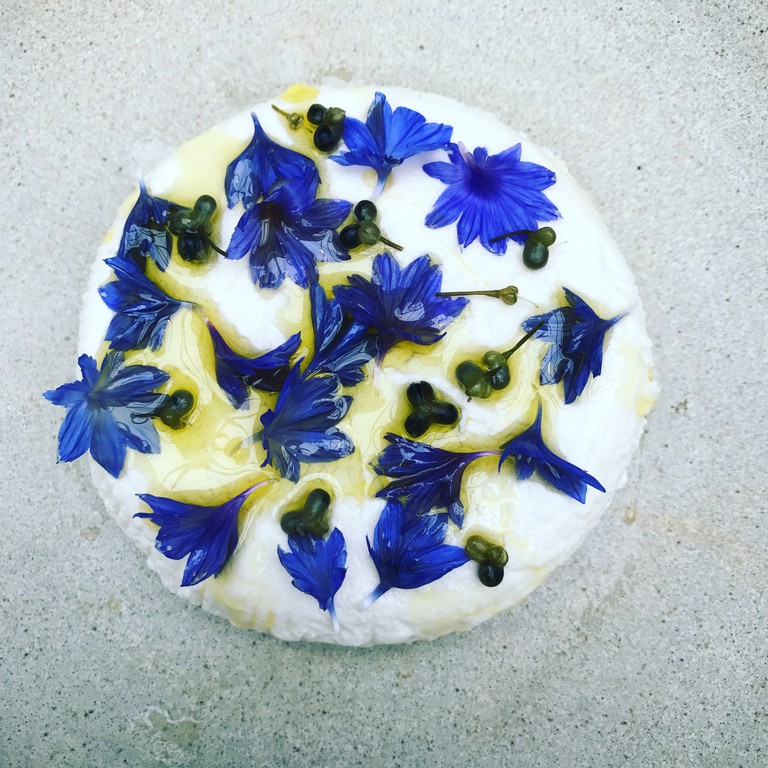 Galway's fancy cheese cornflowers and ramsons