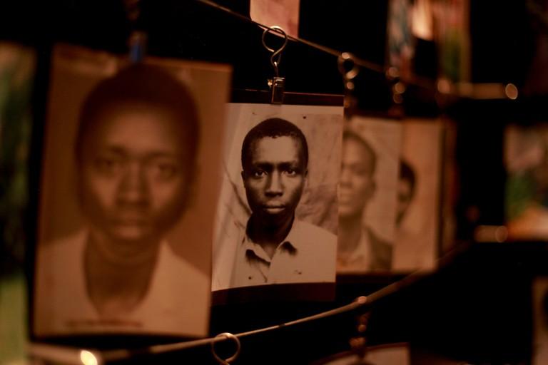 Photos at the Kigali Genocide Memorial