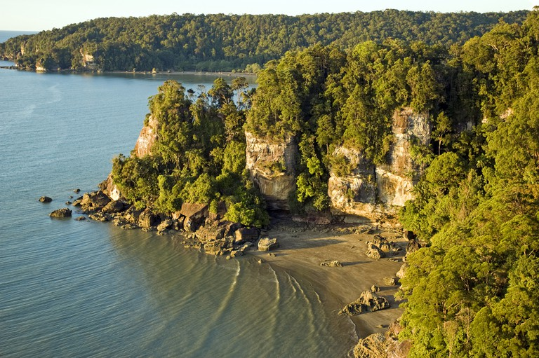 Rock coastline of Bako National Park