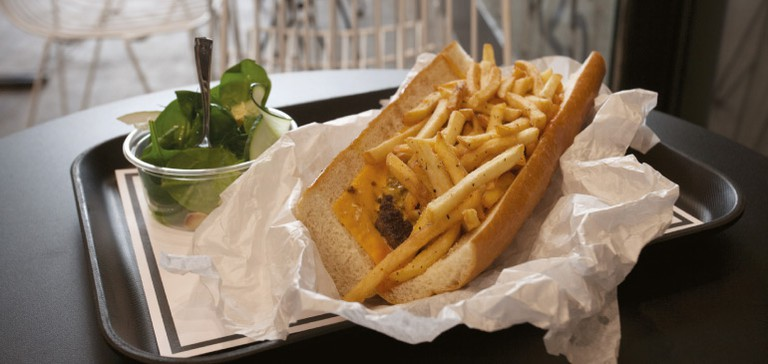 Cheesesteaks at Snack Bar