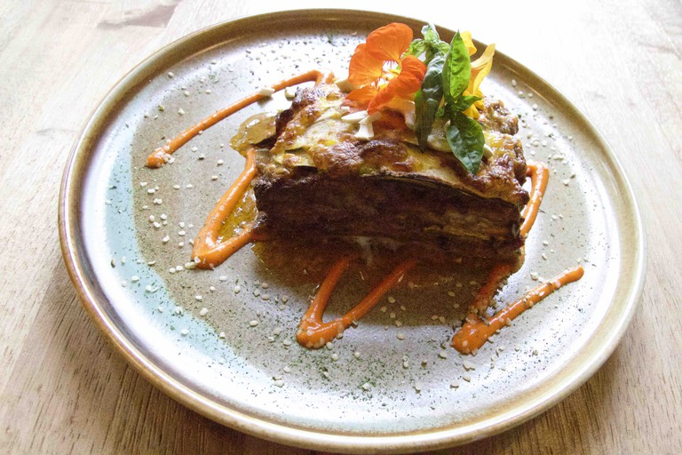 Veggie lasagna at Réliva