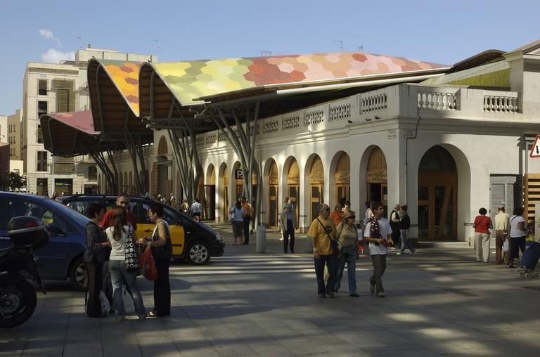 The Santa Caterina market and restaurant