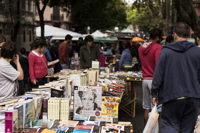 Some books at Tristán Narvaja market, Montevideo, Uruguay