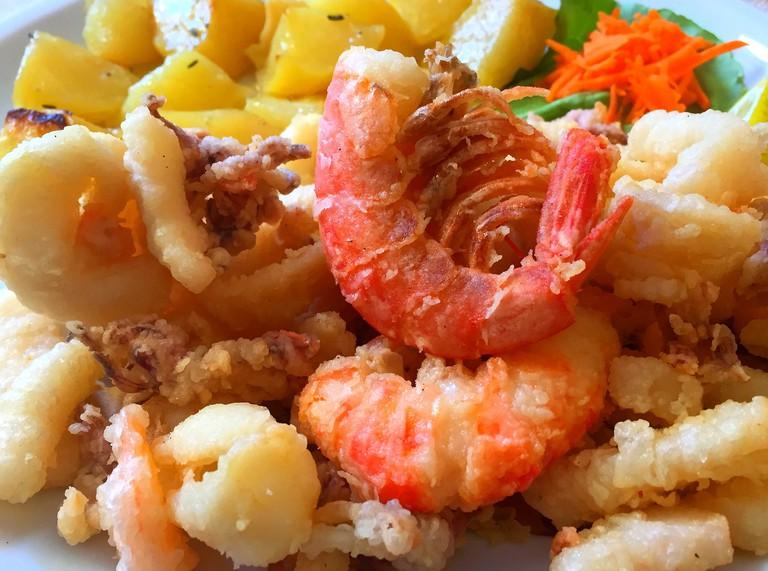 Battered seafood