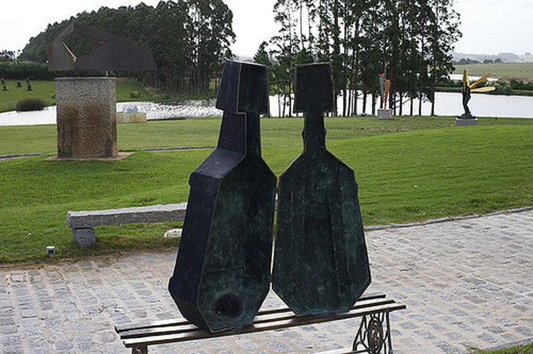 The sculpture park view of the Fundación Pablo Atchugarry in Uruguay