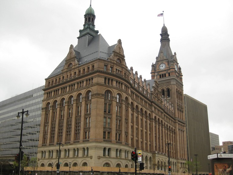 Backside of Milwaukee City Hall
