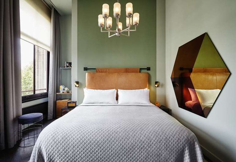 Guest room at The Hoxton
