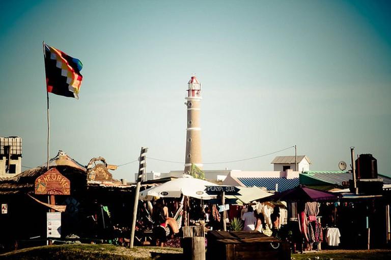 Start of the artisan market, Cabo Polonio, Rocha, Uruguay