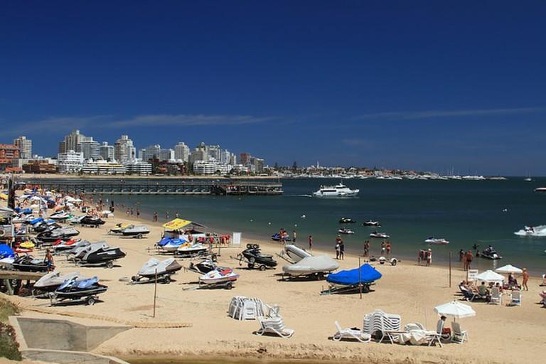 The beach at Punta del Este, Maldonado, Uruguay