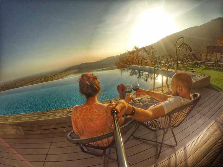 Infinity pool at Royal Batoni