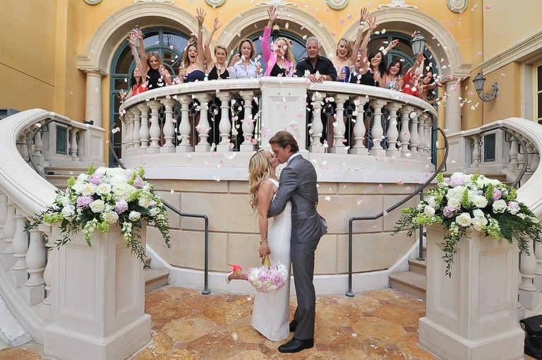 One of the Bellagio's wedding venues Inside the Aria's wedding chapel | Courtesy of MGM Properties