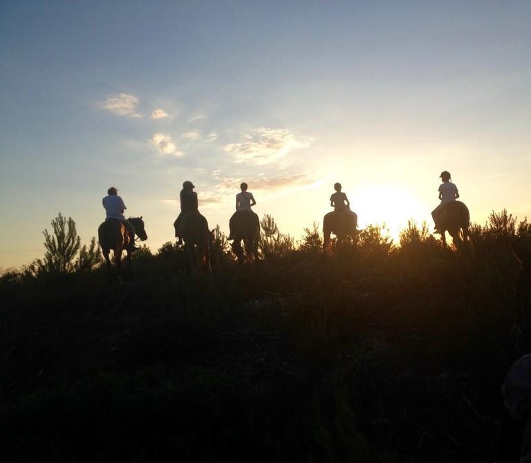 Sunset on Horseback   Courtesy of Ibiza Horse Valley