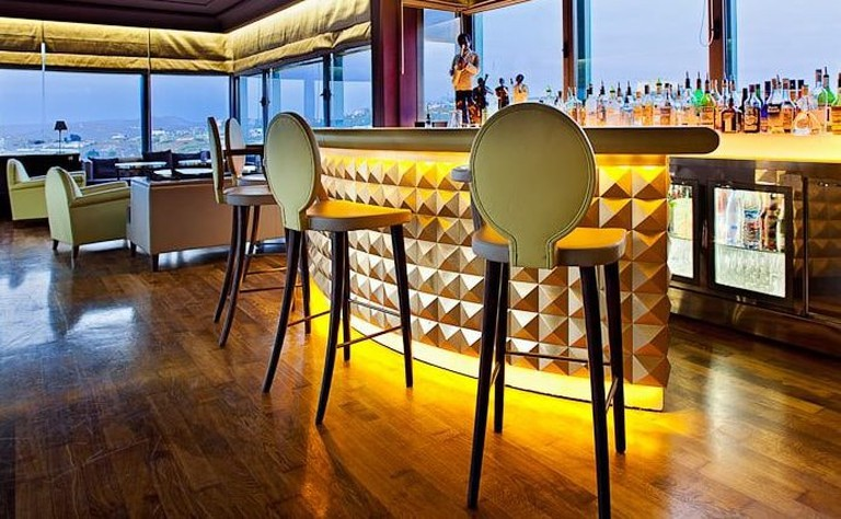 The bar at Palais Faraj