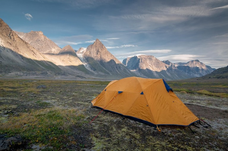 Camping in Auyuittuq National Park
