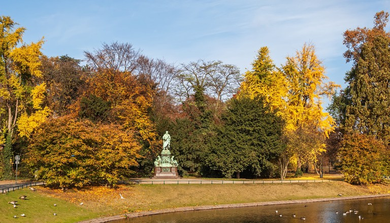Hofgarten in the old town of Dusseldorf, Germany