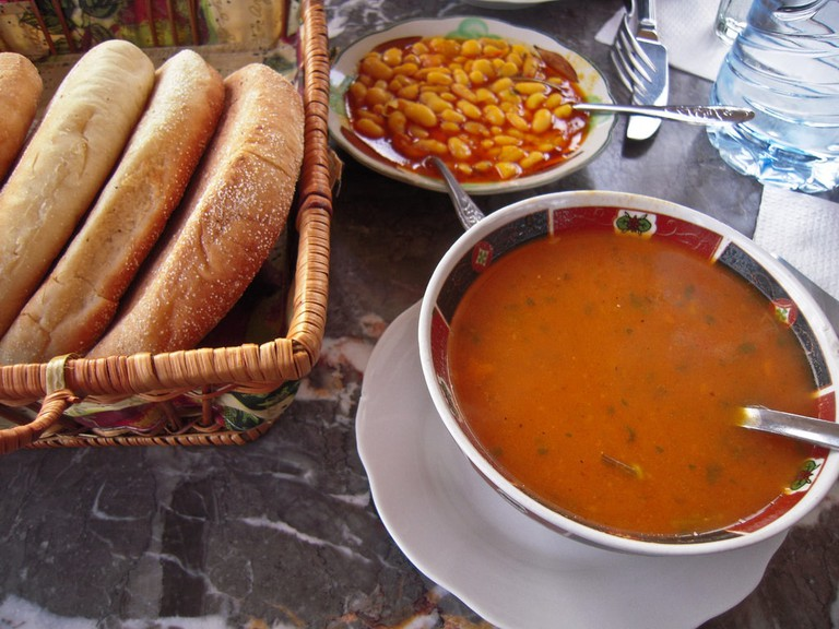 Moroccan soup and beans