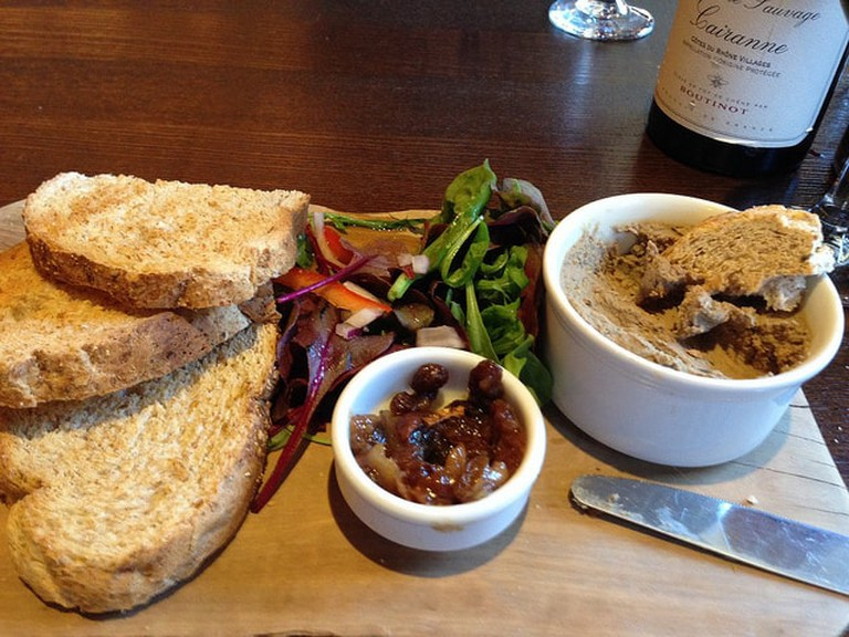 Make yourself a platter with organic bread and pate