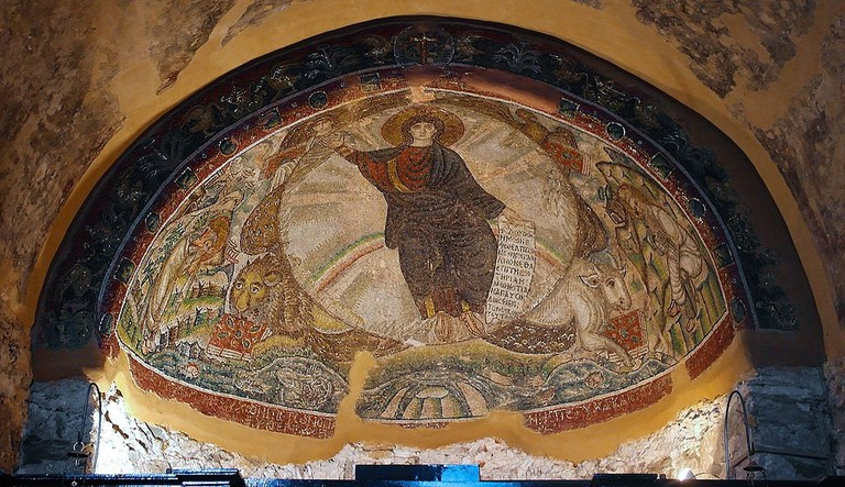 Mosaic in monastery of Latomou, also known as the Church of Osios David