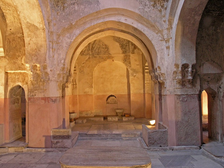 Hot chamber of the men baths in the Bey Hamam in Thessaloniki