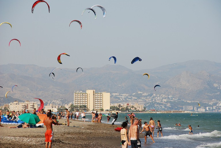 guadalmar beach is just 800 metres from Hotel Picasso Málaga