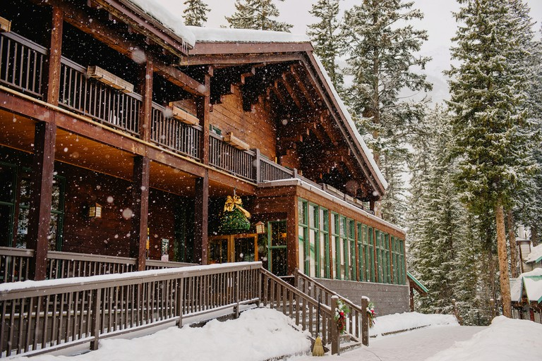 Emerald Lake Lodge during the holidays