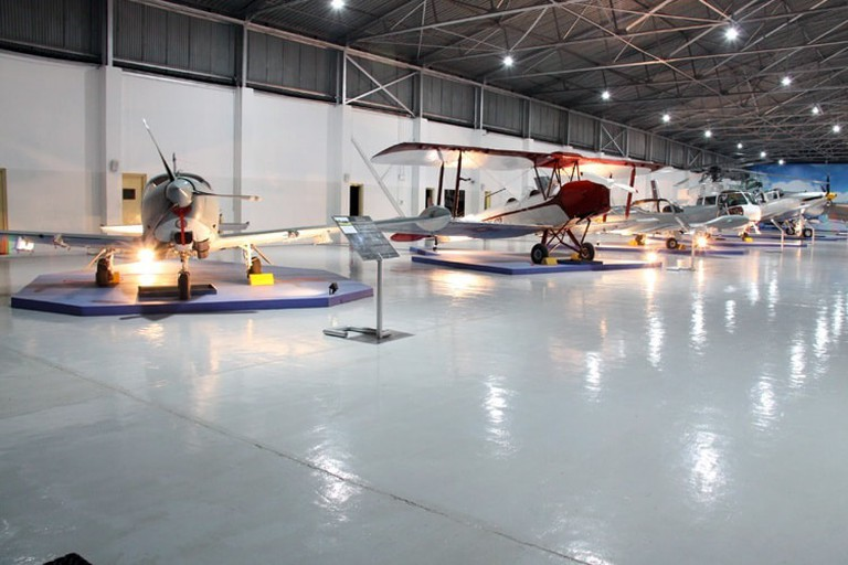One of the Hangars in the Museum is full beautifully displayed aircraft.