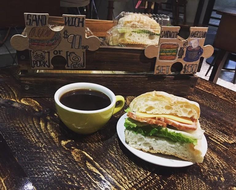 The Cho Cafe Breakfast Sandwich